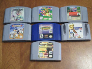 Nintendo N64 video games and accessories