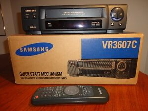Samsung VR3607 VCR VHS HQ Recorder Player Quick Start One Touch