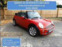 Mini 1.6 (Chili) Cooper CONVERTIBLE - 3 Dr Hatchback - High Specification - 2007