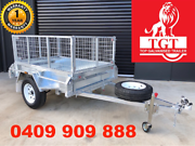 6x4 Galvanised Trailer Fully Welded with 600mm Cage ATM 750kg Mitcham Whitehorse Area Preview