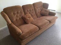 Three seater settee and armchair