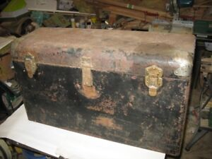Early 1930's Metal Trunk