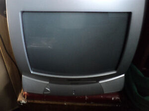 (3) ~ TOSHIBA TV'S W/ REMOTES ~ OLD TUBE TV' STYLE ~ GARAGE?