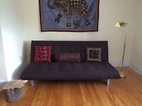 [MUST SELL] Beautiful Rich Brown FUTON couch (Value $500)