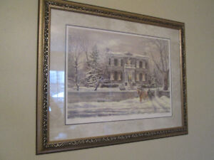 Two Prints,Kathryn Smith, Whitehern in Winter, McNichol Mansion