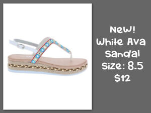 NEW SIZE 7.5- 9 - SANDALS