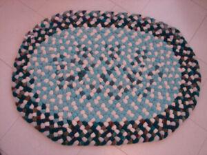 Hand Braided woolen rugs
