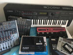 Lot de matériel audio et instruments de musique !