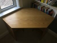 Oak Vineer Corner Desk