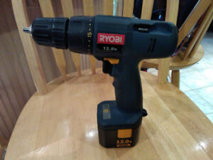 12 volt Ryobi Drill and battery