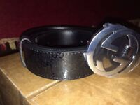 Gucci belt silver buckle for sale!