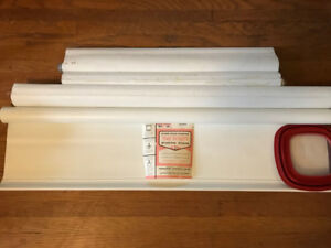 LOT 4 White Roller Blinds, one brand new, various sizes
