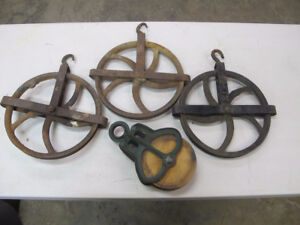 Antique Well Pulleys Barn Pulley