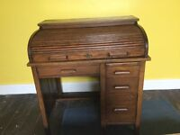 Beautiful Roll Top Writing Bureau