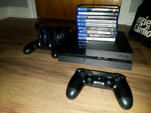 Ps4 2000go + Turtle Beach Px4 + 9 jeux