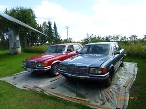Ideal for Antique Car Parts Dealers - Two 1975 Mercedes 280 SE