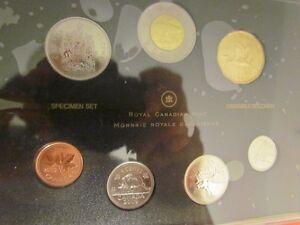 ensemble pièces specimen 2009 monnaie 1$ Héron bleu