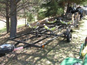 Custom trailer for kayak or canoe