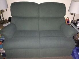 Sherborne dark green 2 seater sofa and arm chair