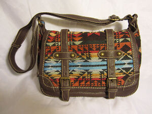 #66 Nine West American Vintage Collection Canvas w/ leather $25