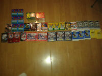 lot de  34 paquets de cartes de hockey plus 2 collection complet