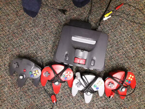 Nintendo console bundle with 4 games