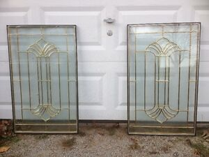 TWO SPECIAL LEAD GLASS WINDOWS FOR SALE-BEST OFFER