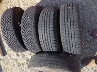 VW Vanagon rims with tires(5) and hubcaps with nuts