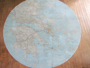 Accent table with Map of Greece London Ontario image 3