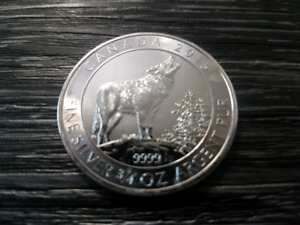 3/4 oz Howling Wolf Silver Coin