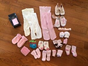 Socks, tights and head band 0-6 months
