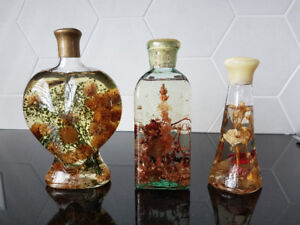 Bouteilles en verres décoratives