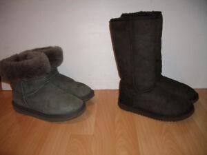 "UGG "" style bottes mouton / shearling --- size 6 ou 7 US"