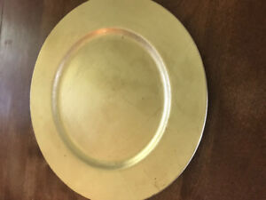 150 gold charger plates - wedding