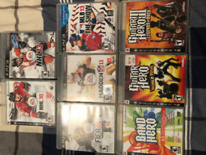 PS3 Assorted Games 8 for $20!