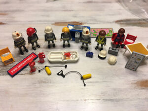 PLAYMOBIL FIRE FIGHTERS AND EXTRAS