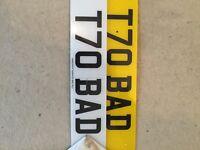T70 Bad Registration Plate