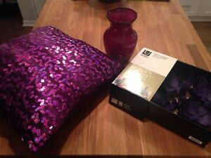 Purple home decor accessories Kitchener / Waterloo Kitchener Area image 1