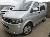 VW VOLKSWAGEN TRANSPORTER KOMBI DOUBLE CAB T5 2.0 TDI ONLY 15,000 MILES SWB VGC