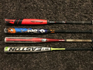 4 SOFTBALL BATS FOR SALE!