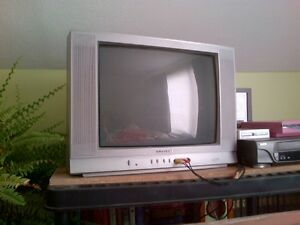 "20"" TV with cable box and remote controls"