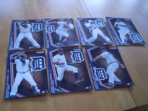 DETROIT TIGERS CARDS/STICKERS FROM DETROIT FREE PRESS