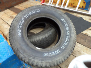 2 Goodyear Wrangler RT/S  265 75 R16 Tires in good condition