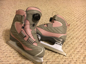 Girls size 3 Reebok skates with Boa cable ties