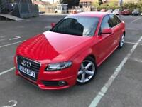 2009 (59) Audi A4 2.0 TDI S-line Manual Red Saloon 6 Months Warranty included