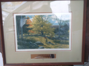 """""""Autumn Morning """" watercolor by A.Lassell Ripley"""