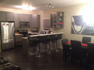 large furnished bedroom downtown