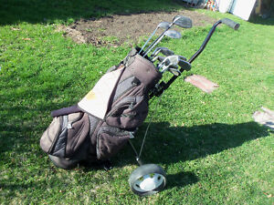 Golf Clubs, Bag and Buggy Tommy Armour