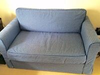 IKEA sofa bed/futon with storage - like new