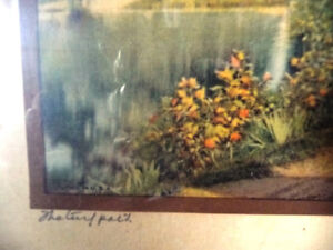 "Hand Colored Photo After Wallace Nutting ""Natural Path"" 1920's Stratford Kitchener Area image 6"